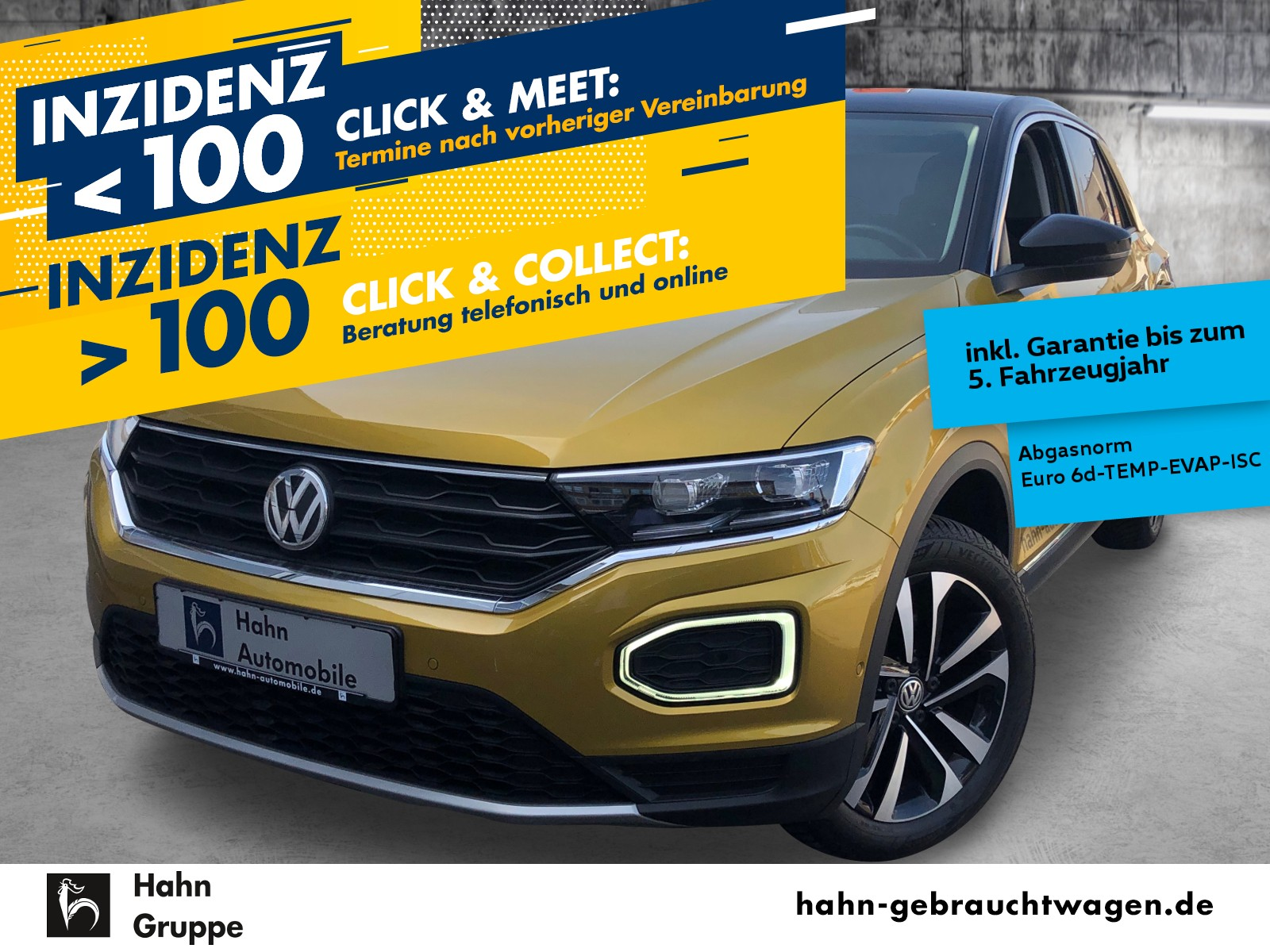 Volkswagen T-Roc 1.5TSI IQ.DRIVE Navi über AppConnect Standh, Jahr 2019, Benzin