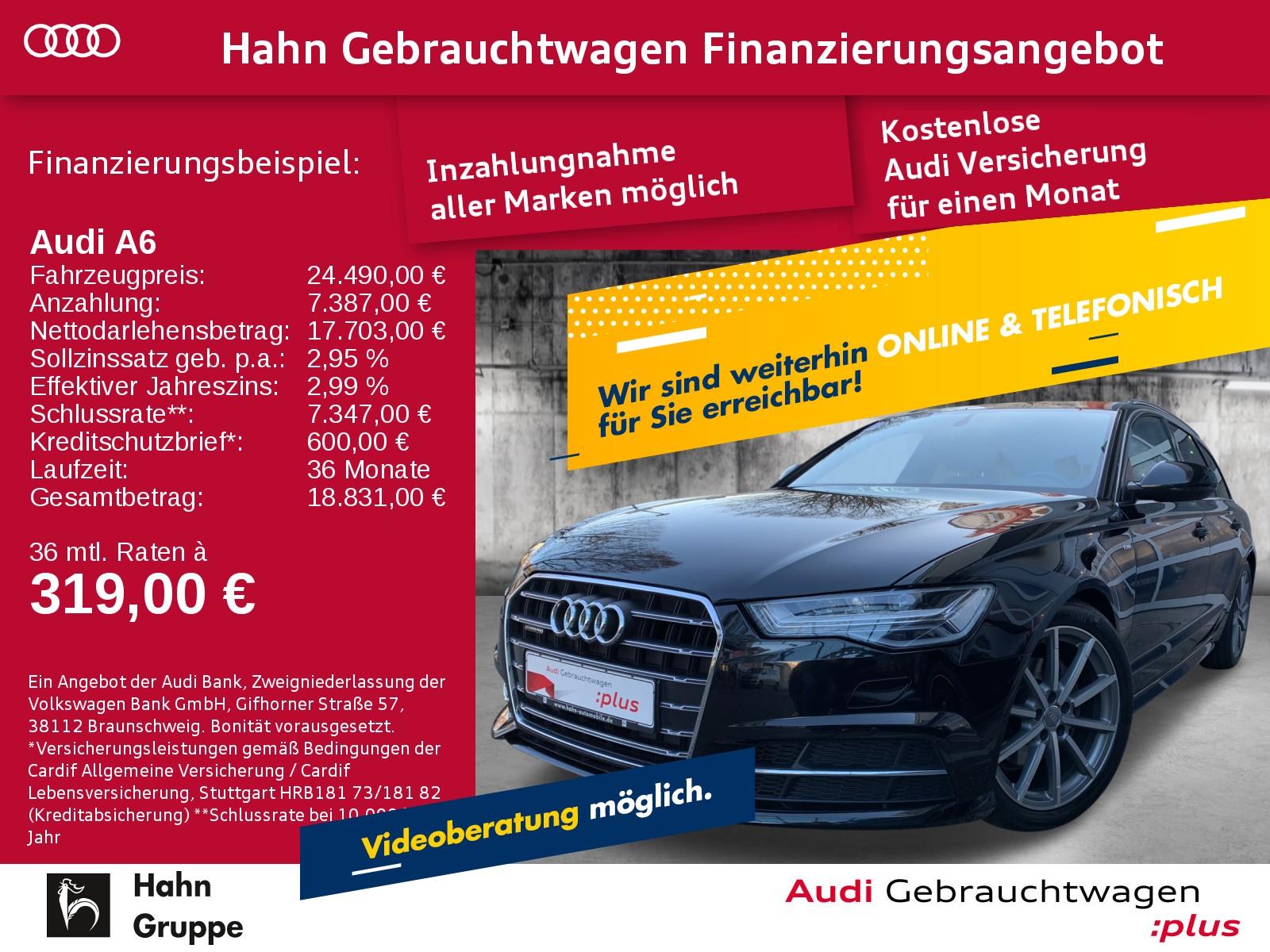 Audi A6 Avant 2.0TDI qua. S-trc Navi LED CAM Sitzh, Jahr 2017, Diesel