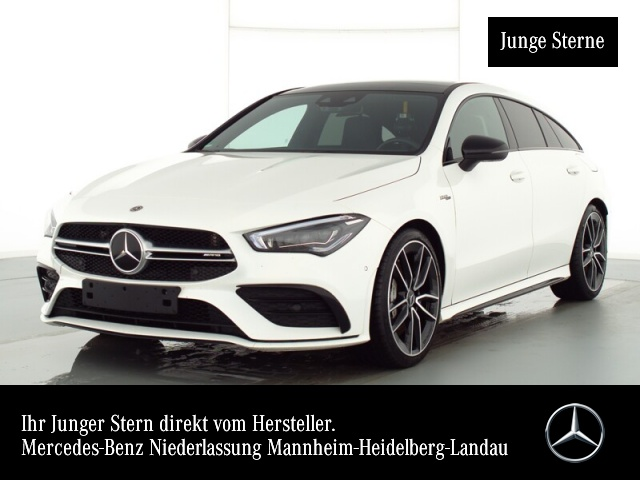 "Mercedes-Benz CLA 35 AMG 4M SB Pano Night Distronic 19""Ambient, Jahr 2020, petrol"