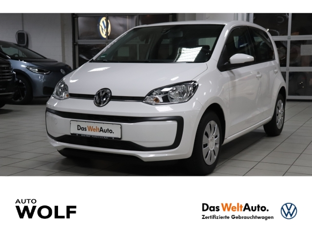 Volkswagen up! move 1.0 LED-Tagfahrlicht RDC Klima Temp PDC AUX USB Kom-paket ESP Regensensor, Jahr 2016, Benzin